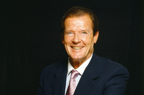 A real man: Sir Roger Moore.